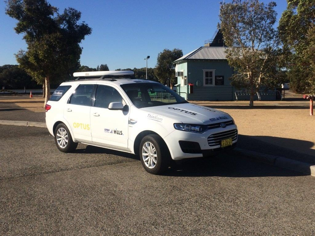 ThinSat 300 on World Solar Challenge Broadcast Vehicle