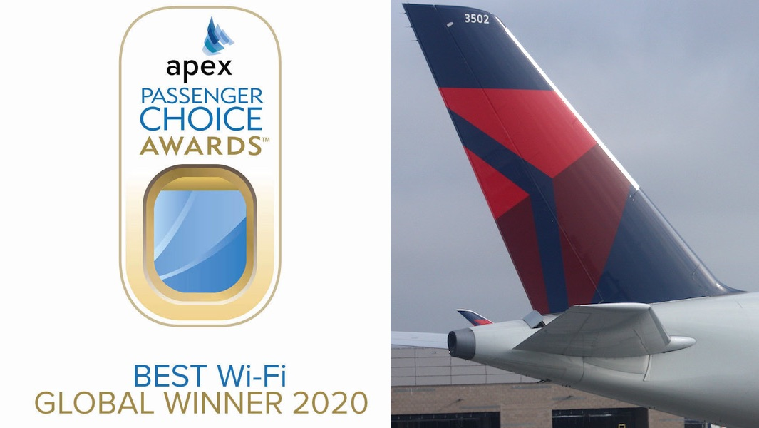 Delta Air Lines wins Best Wi-Fi APEX Award