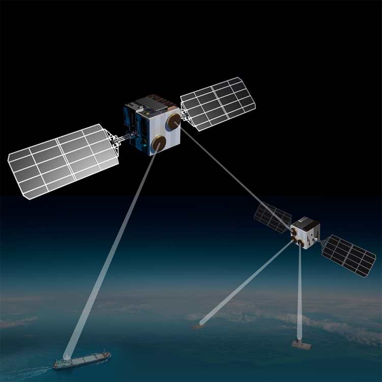 intersatellite links payload phased array